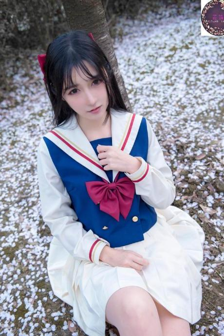 Japanese Orthodox Uniform Skirt Soft Girl Transformed Skirt Two JK Sailor's College Windsuit Class Dress Pleated Skirt