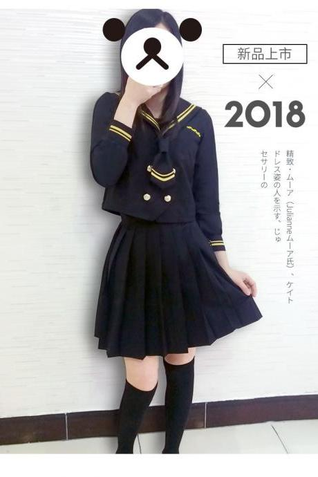 Japanese Musketeer Bad Girl JK Uniform Sailor Uniform Student Uniform Class Uniform Academy Wind Suit Soft Girl