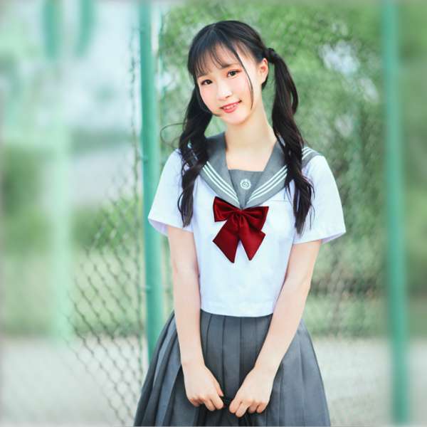Sailor suit college uniform summer class dress short sleeve female cos Japanese JK uniform