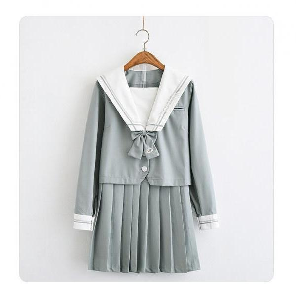 Japanese Orthodox JK Uniform Skirt Jasmine Liuli Two Soft Girls Sailor Clothes Japanese School Uniform Class Uniform College Wind Suit
